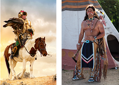 モンゴル人、インディアン
