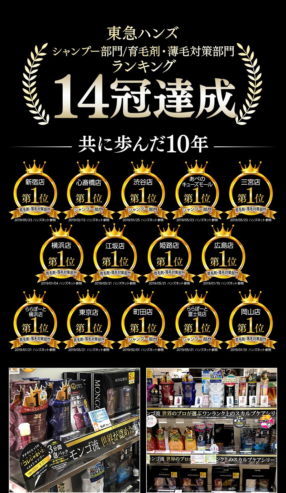 東急ハンズランキング14冠達成