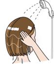 リペアコンディショナーを洗い流す